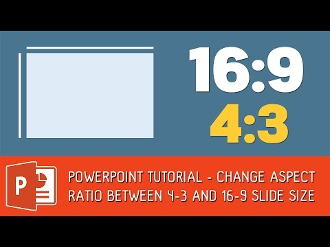 PowerPoint 2013 | Change Aspect Ratio between 4:3 and 16:9 slide size
