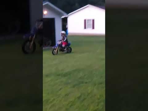 Lil couz riding a 110cc....