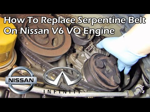 Nissan Quest Serpentine Belt Change (2004 - 2009)