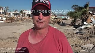 10-13-2018 Mexico Beach, Fl Survivor of Hurricane Michael tells his near death experience SOT