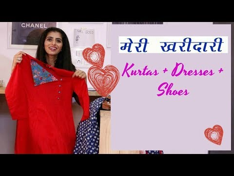 (Hindi) Online Sale Shopping India : Ajio & Jabong : Kurtas, Dresses & Shoes Haul