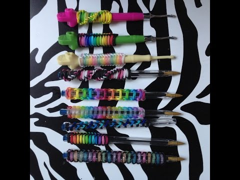 Rainbow Loom bands for Pen or Hook