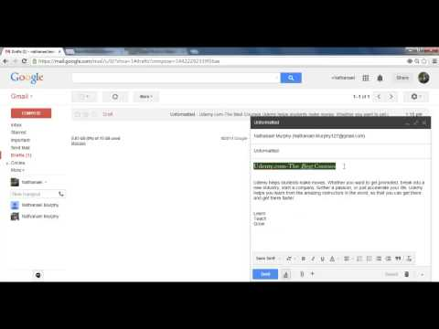 Formatting your Messages in Gmail