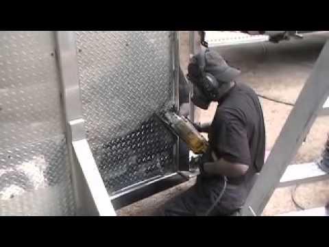 Huge Headache rack - Aluminum polishing checker Plate
