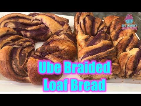 Ube Braided Loaf Bread