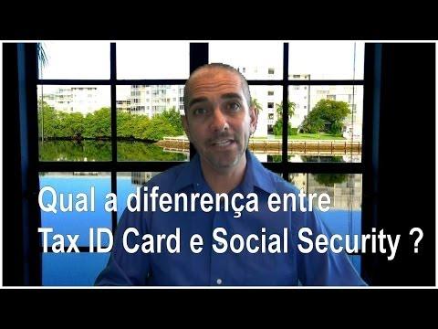Qual a diferença entre Tax ID Number e Social Security Number?
