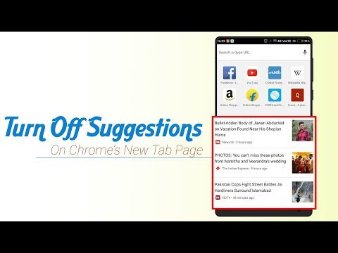 How To Turn Off Suggestions On Chrome's New Tab Page