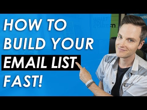 How to Build an Email List Fast and for Free — 5 List Building Tips