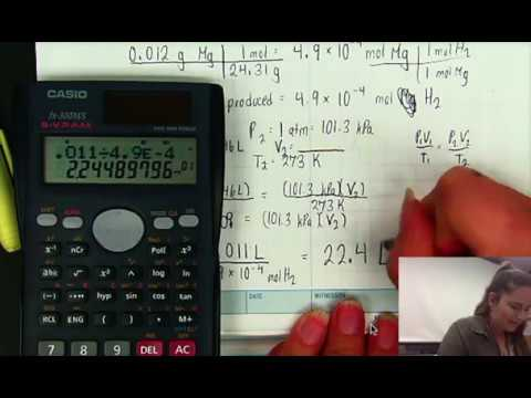 Molar Volume of a Gas Lab Calculations