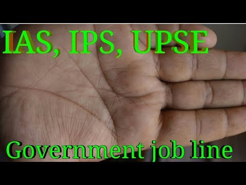 High post, authority, government job line in hand. उच्च पदाधिकारी बनने के योग हाथ में