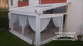 Tenda Antipioggia Pvc Trasparente Per Balcone Terrazzo