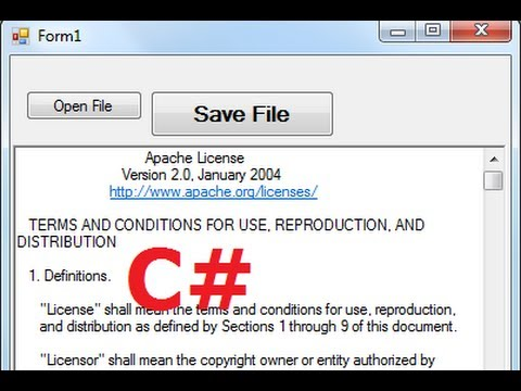 C# Tutorial 66: How to Save Files Using SaveFileDialog Component in C#
