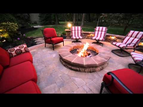 OutdoorFX time-lapse paver patio, outdoor kitchen, fire pit, lighting & more in Powell, OH