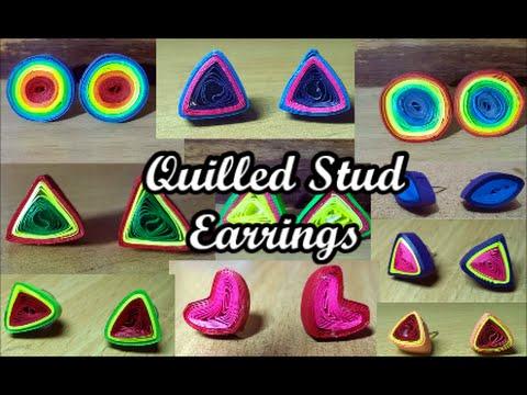 DIY Quilled Stud Earrings Tutorial