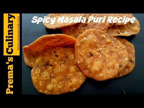 Masala Puri Recipe - Diwali Special Recipes, A spicy snack recipe in simple steps