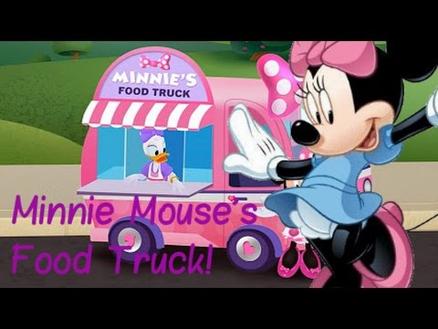Minnie's Salad Station in Food Truck - Disney App  Cucumber, Pepper & Greens