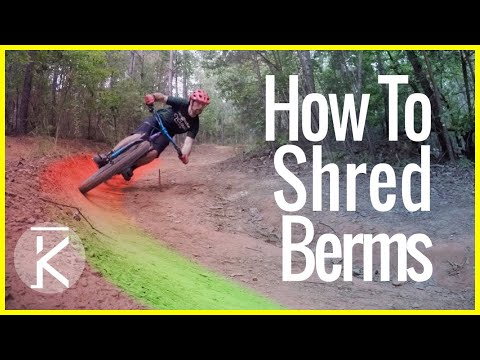 Tips for riding berms fast! Mountain bike turning tutorial Part #3