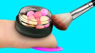 9 DIY Weird Makeup Ideas / Miniature And Giant Makeup