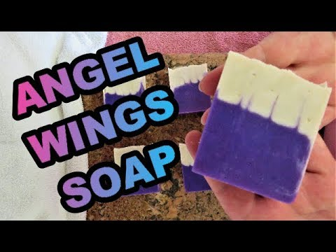 HOW TO MAKE ANGEL WINGS COLD PROCESS SOAP