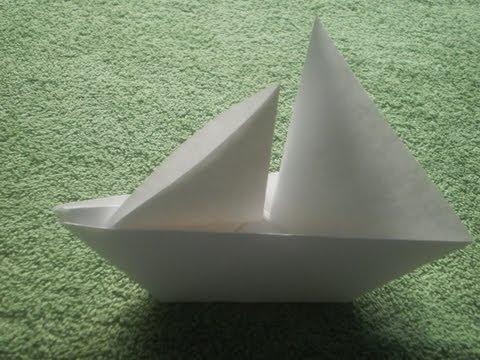 Origami Tutorial: Origami Sailboat
