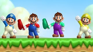 New Super Mario Bros Wii - Coin Battle (All Courses)