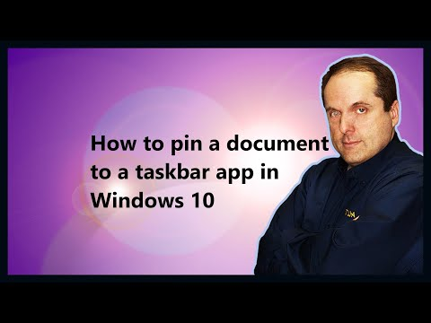 How to pin a document to a taskbar app in Windows 10