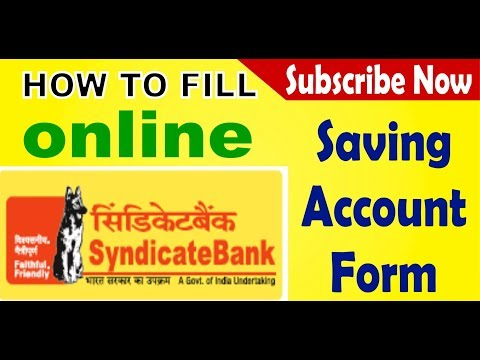 How to open Syndicate Bank online saving account deposit || Simplified in Hindi ||