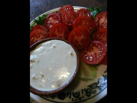 Bleu Cheese salad dressing and Vegetable dip