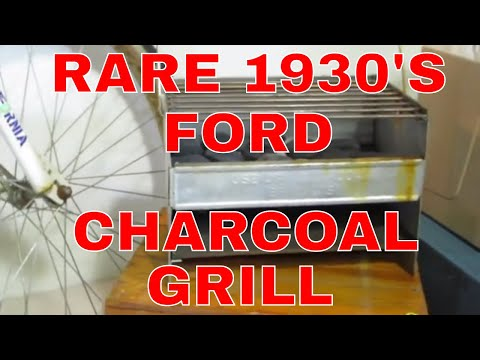 Look What I Found Online Auction Preview-RARE 1930'S FORD Charcoal Grill