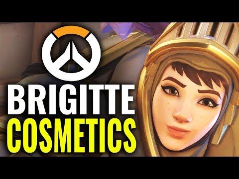 Brigitte Skins, Highlight Intros + All Cosmetics! [Overwatch]