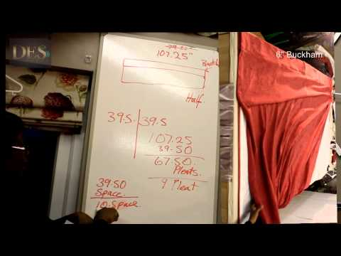 http://www.desswags.co.uk/17.html The formula for Pinch Pleat or Goblet Curtains