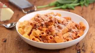 Giant Rigatoni with a Quick Ragu featuring Adam Swanson in Everyday Gourmet