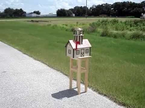 Amish Made Mailbox with Solar Light and Copper Roof
