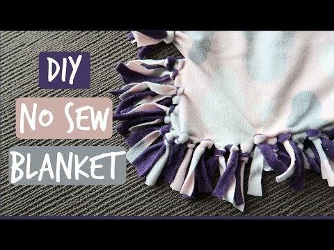 DIY NO SEW BLANKET | HOW TO MAKE A FAST BABY BLANKET