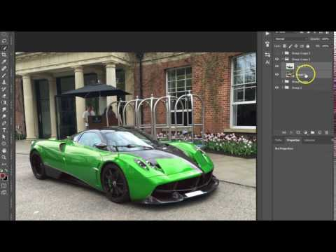 Photoshop Tutorial | Change the color of a car
