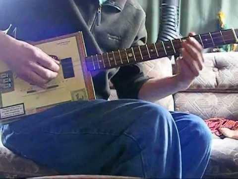 3 string Cigar Box Guitar Lesson (Sweet Home Alabama)