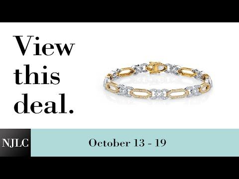 Deal of the Week: Two-tone Micro-Pave Diamond Bracelet