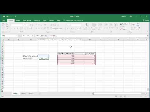 How to Look up Data in a Cell Range using VLOOKUP or HLOOKUP functions in Excel 2016