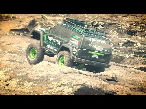 Xtra Speed SCX10II Axles Housing Testing On the Rocks - JPRC  Monster Energy Jeep Cherokee
