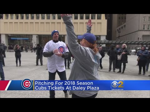 Cubs Fans Pitch For Tickets