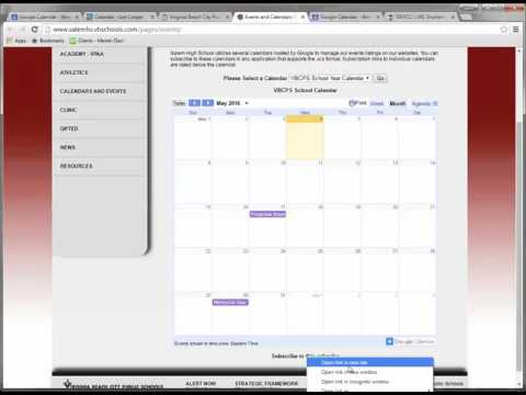 Adding Public Calendars to Outlook and Google