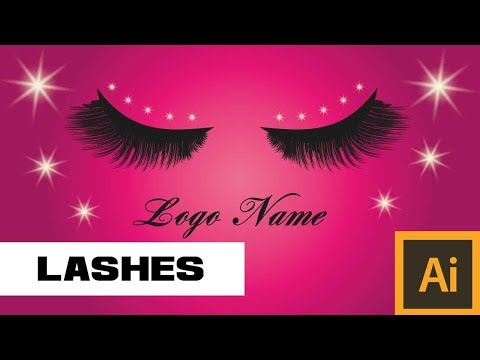 Creating Eyelashes in Adobe Illustrator CS6 - Logo Design
