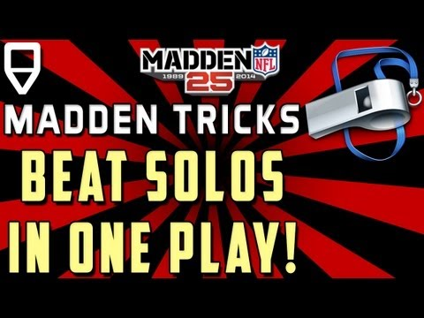 Beat Every Madden 25 Solo Challenge in one EASY Play! Madden 25 Tips Tricks