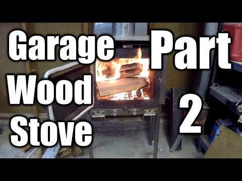 How To Heat Your Garage With a Wood Stove | THE HANDYMAN