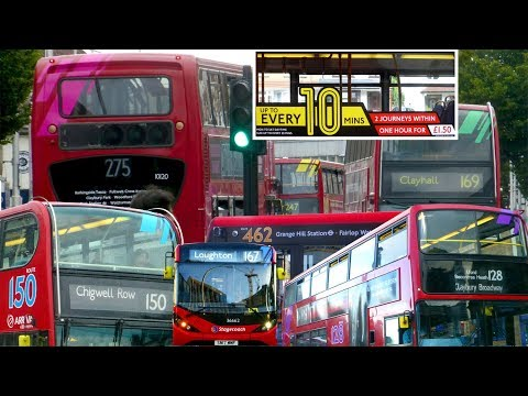 London Bus Experiment - Colour-Coded Route-Branded Buses