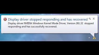 fix] Display driver NVIDIA Windows Kernel Mode Driver, Version