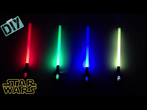 DIY mini starwars toy lightsabers with LED light