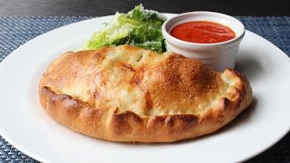 Calzone Recipe - How to Make a Calzone - Ham and Cheese Stuffed Pizza Bread