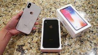WE GOT AN IPHONE X!