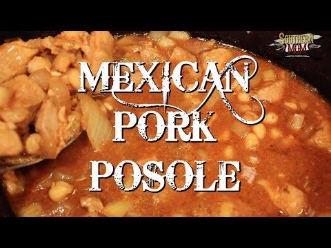 MEXICAN PORK POSOLE CROCK POT SLOW COOKER MEAL